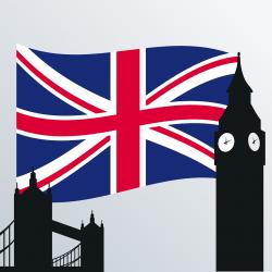 Englisch Flagge Big Ben
